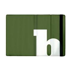 Square Alphabet Green White Sign Apple Ipad Mini Flip Case by Alisyart