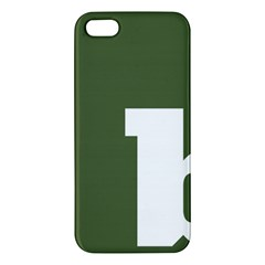 Square Alphabet Green White Sign Iphone 5s/ Se Premium Hardshell Case by Alisyart