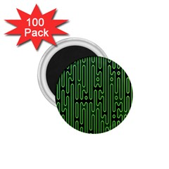 Pipes Green Light Circle 1 75  Magnets (100 Pack)  by Alisyart