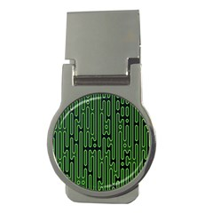 Pipes Green Light Circle Money Clips (round)  by Alisyart