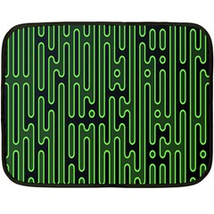 Pipes Green Light Circle Fleece Blanket (mini) by Alisyart