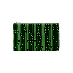 Pipes Green Light Circle Cosmetic Bag (small)  by Alisyart