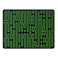 Pipes Green Light Circle Fleece Blanket (small) by Alisyart