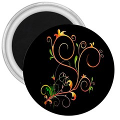 Flowers Neon Color 3  Magnets by Simbadda