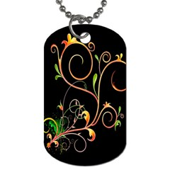 Flowers Neon Color Dog Tag (two Sides) by Simbadda