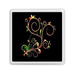 Flowers Neon Color Memory Card Reader (square)  by Simbadda