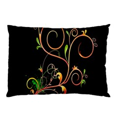 Flowers Neon Color Pillow Case (two Sides) by Simbadda
