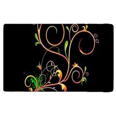 Flowers Neon Color Apple Ipad 3/4 Flip Case by Simbadda