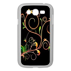 Flowers Neon Color Samsung Galaxy Grand Duos I9082 Case (white) by Simbadda