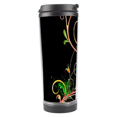 Flowers Neon Color Travel Tumbler by Simbadda