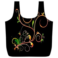 Flowers Neon Color Full Print Recycle Bags (l)  by Simbadda