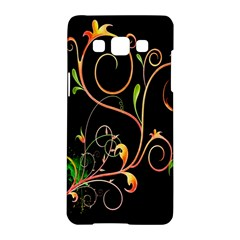 Flowers Neon Color Samsung Galaxy A5 Hardshell Case  by Simbadda