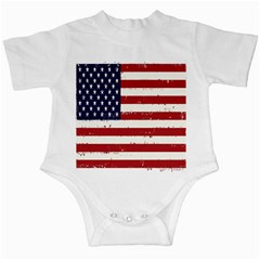 Flag United States United States Of America Stripes Red White Infant Creepers by Simbadda