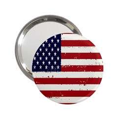 Flag United States United States Of America Stripes Red White 2 25  Handbag Mirrors by Simbadda
