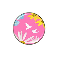 Spring Flower Floral Sunflower Bird Animals White Yellow Pink Blue Hat Clip Ball Marker (10 Pack) by Alisyart