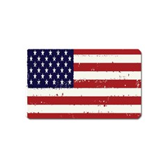 Flag United States United States Of America Stripes Red White Magnet (name Card) by Simbadda