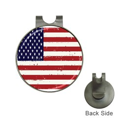 Flag United States United States Of America Stripes Red White Hat Clips With Golf Markers by Simbadda