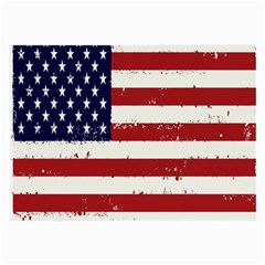 Flag United States United States Of America Stripes Red White Large Glasses Cloth by Simbadda