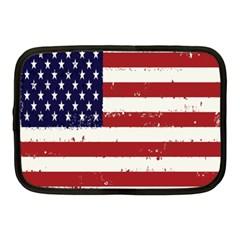 Flag United States United States Of America Stripes Red White Netbook Case (medium)  by Simbadda