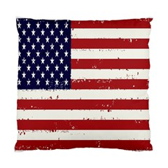 Flag United States United States Of America Stripes Red White Standard Cushion Case (two Sides) by Simbadda