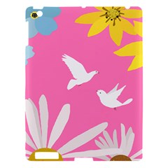 Spring Flower Floral Sunflower Bird Animals White Yellow Pink Blue Apple Ipad 3/4 Hardshell Case by Alisyart