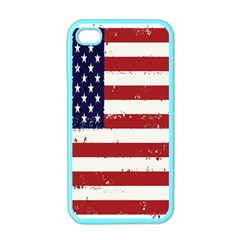 Flag United States United States Of America Stripes Red White Apple Iphone 4 Case (color) by Simbadda