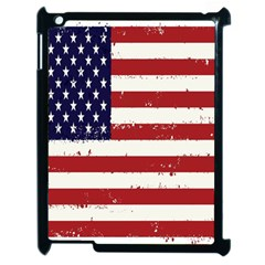 Flag United States United States Of America Stripes Red White Apple Ipad 2 Case (black) by Simbadda