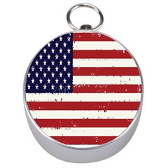 Flag United States United States Of America Stripes Red White Silver Compasses by Simbadda