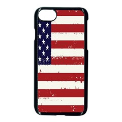 Flag United States United States Of America Stripes Red White Apple Iphone 7 Seamless Case (black) by Simbadda