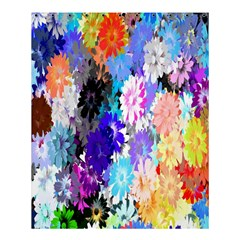 Flowers Colorful Drawing Oil Shower Curtain 60  X 72  (medium)  by Simbadda