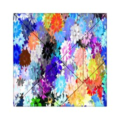 Flowers Colorful Drawing Oil Acrylic Tangram Puzzle (6  X 6 ) by Simbadda