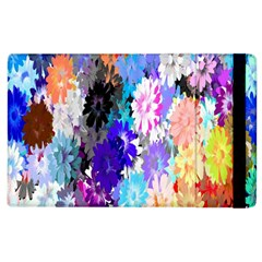 Flowers Colorful Drawing Oil Apple Ipad 2 Flip Case by Simbadda