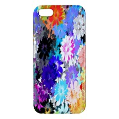 Flowers Colorful Drawing Oil Apple Iphone 5 Premium Hardshell Case by Simbadda