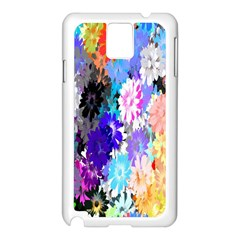 Flowers Colorful Drawing Oil Samsung Galaxy Note 3 N9005 Case (white) by Simbadda