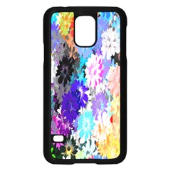 Flowers Colorful Drawing Oil Samsung Galaxy S5 Case (black) by Simbadda