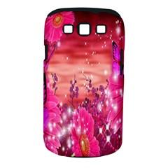 Flowers Neon Stars Glow Pink Sakura Gerberas Sparkle Shine Daisies Bright Gerbera Butterflies Sunris Samsung Galaxy S Iii Classic Hardshell Case (pc+silicone) by Simbadda