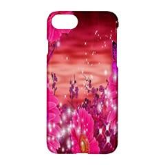 Flowers Neon Stars Glow Pink Sakura Gerberas Sparkle Shine Daisies Bright Gerbera Butterflies Sunris Apple Iphone 7 Hardshell Case by Simbadda