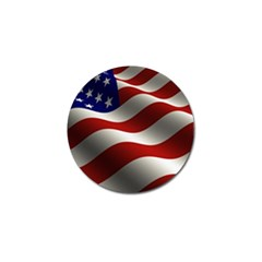 Flag United States Stars Stripes Symbol Golf Ball Marker by Simbadda