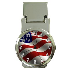 Flag United States Stars Stripes Symbol Money Clip Watches by Simbadda