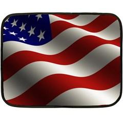 Flag United States Stars Stripes Symbol Fleece Blanket (mini) by Simbadda