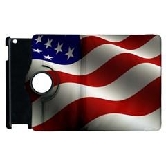 Flag United States Stars Stripes Symbol Apple Ipad 3/4 Flip 360 Case by Simbadda