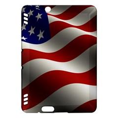 Flag United States Stars Stripes Symbol Kindle Fire Hdx Hardshell Case by Simbadda