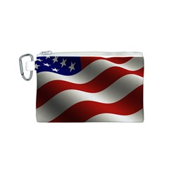 Flag United States Stars Stripes Symbol Canvas Cosmetic Bag (s) by Simbadda