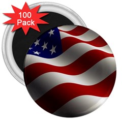Flag United States Stars Stripes Symbol 3  Magnets (100 Pack) by Simbadda