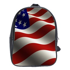 Flag United States Stars Stripes Symbol School Bags(large)  by Simbadda