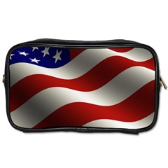 Flag United States Stars Stripes Symbol Toiletries Bags 2 Side by Simbadda