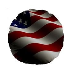 Flag United States Stars Stripes Symbol Standard 15  Premium Round Cushions by Simbadda