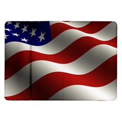 Flag United States Stars Stripes Symbol Samsung Galaxy Tab 10 1  P7500 Flip Case by Simbadda