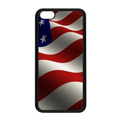 Flag United States Stars Stripes Symbol Apple Iphone 5c Seamless Case (black) by Simbadda