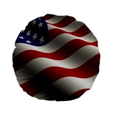 Flag United States Stars Stripes Symbol Standard 15  Premium Flano Round Cushions by Simbadda